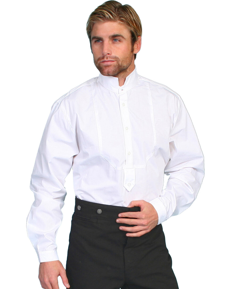 Wahmaker by Scully High Collar Long Sleeve Shirt, White, hi-res