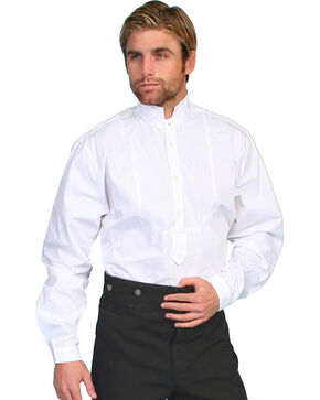 Scully Men's Pullover Style Shirt, White, hi-res