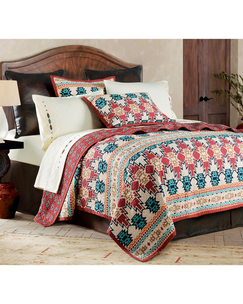 HiEnd Accents 3-Piece Phoenix King Quilt Set, Multi, hi-res