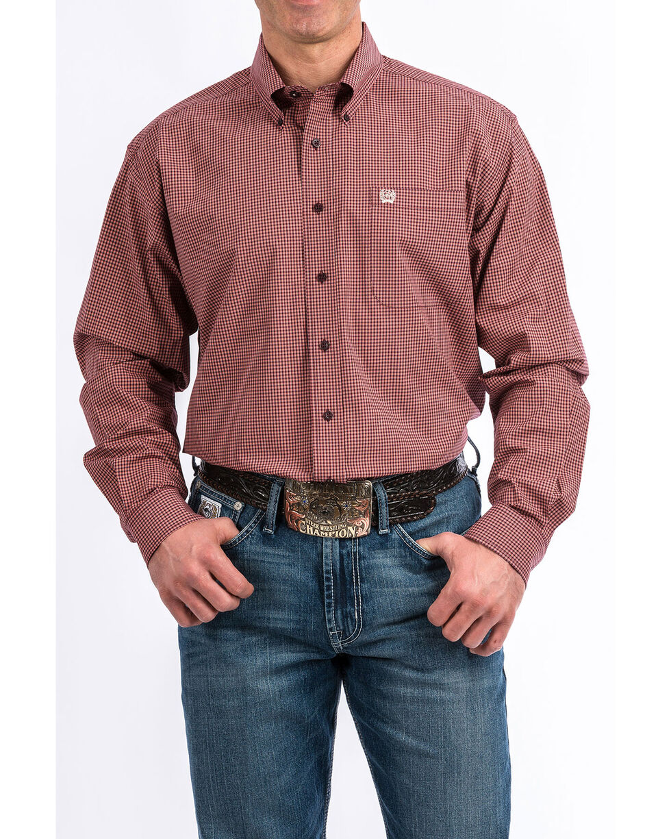 Cinch Men's Multi Tencel Plaid Long Sleeve Western Shirt , Multi, hi-res