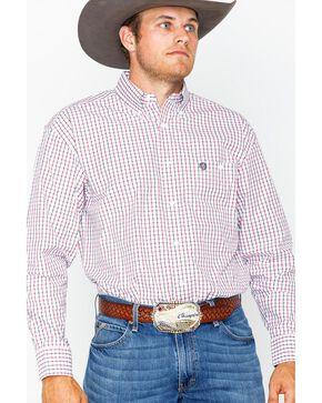 Wrangler George Strait Men's Red Plaid Western Shirt , Black/red, hi-res