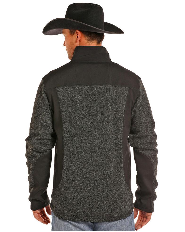 Powder River Outfitters Men's Melange Knit Softshell Jacket, Black, hi-res