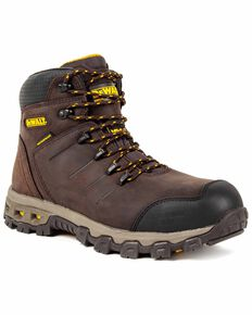 DeWalt Men's Farnham Lace-Up Work Boots - Aluminum Toe, Brown, hi-res