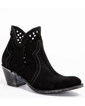 Shyanne Women's Nicki Zipper Booties - Round Toe, Black, hi-res