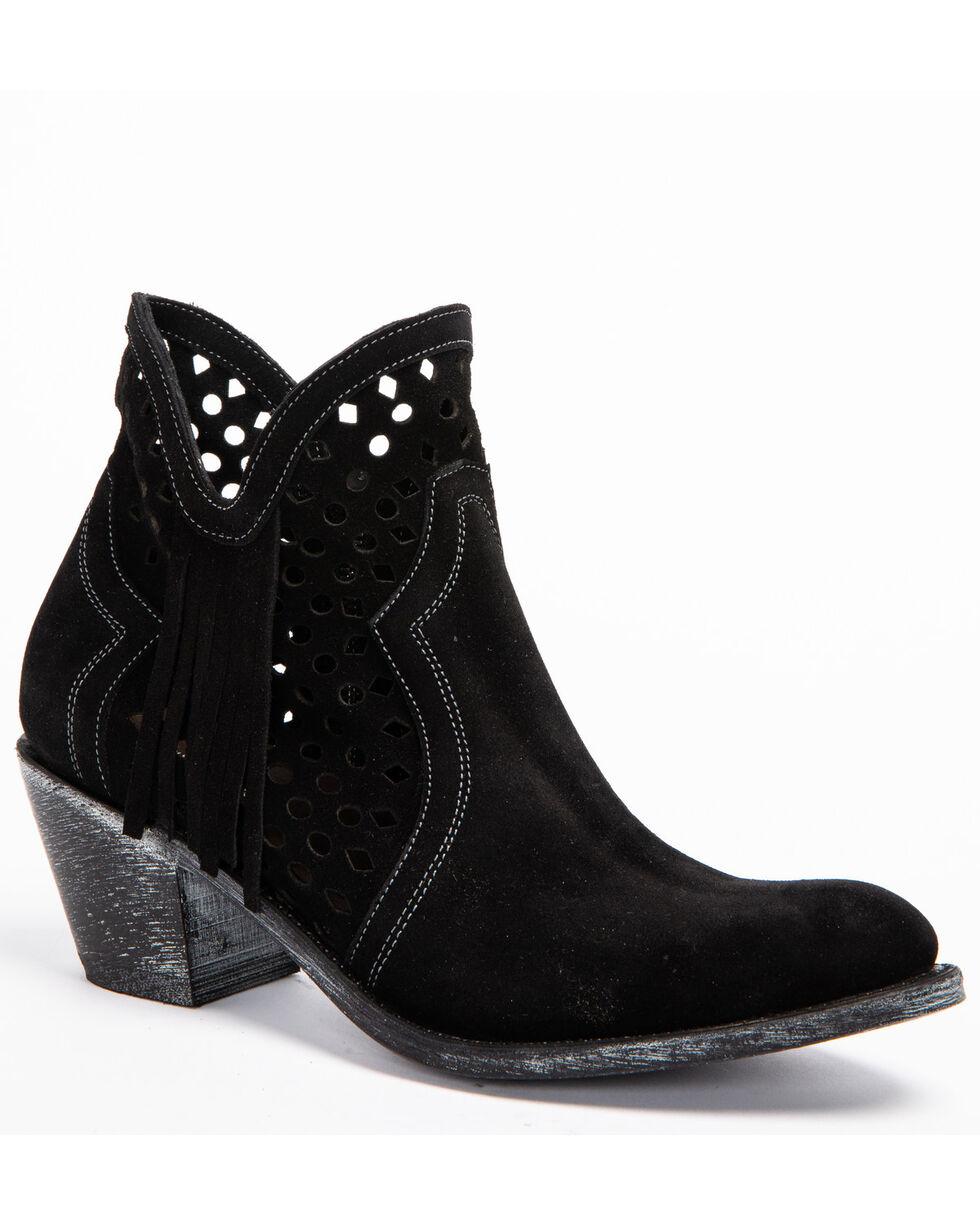 Shyanne Women's Nicki Zipper Booties - Round Toe, Black, hi-res