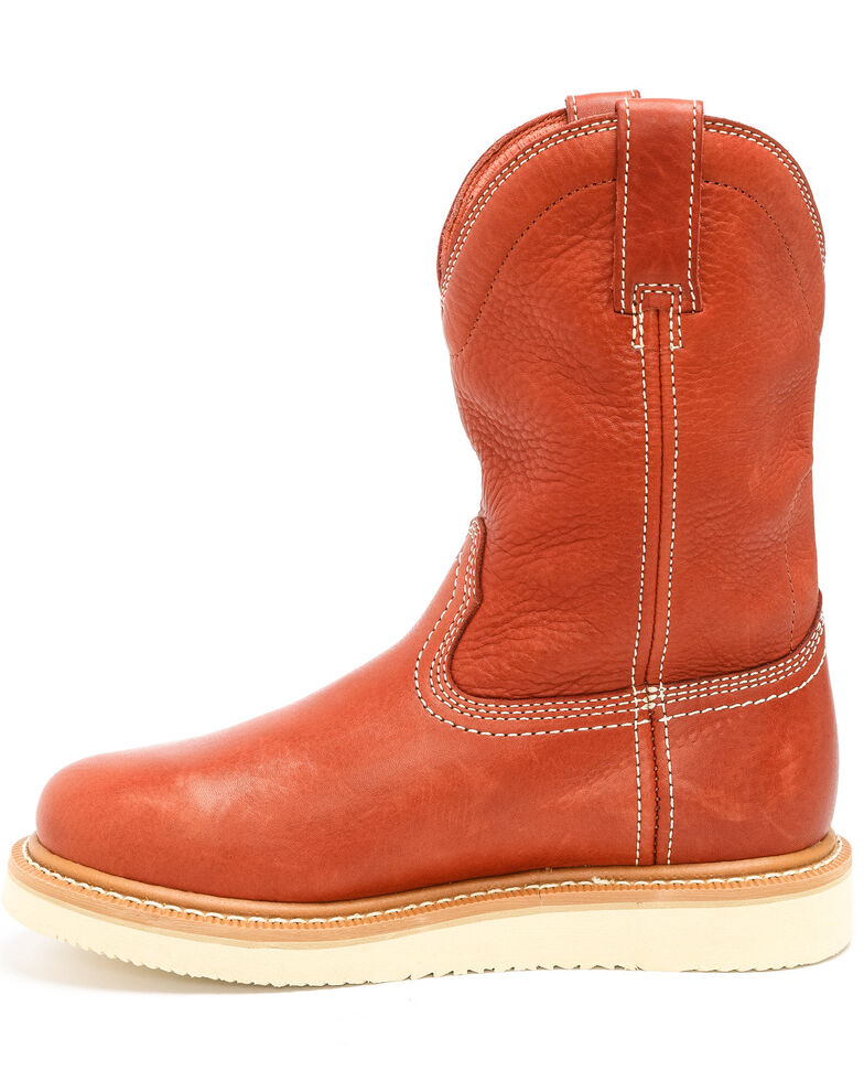 Hawx Men's Puncture Resisting Work Boots - Round Toe, Red, hi-res