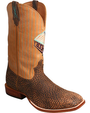 Twisted X Men's HOOey Bull Hide Western Boots, Brown, hi-res