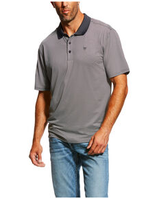 Ariat Men's Black TEK Micro Stripe Polo Shirt , Black, hi-res