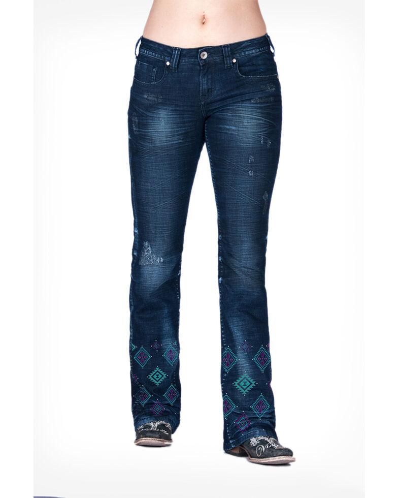 Cowgirl Tuff Women's Rio Grande Jeans, Blue, hi-res