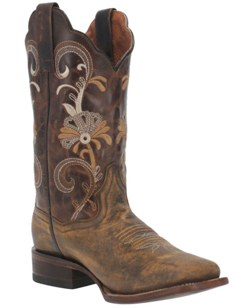 Dan Post Women's Sabina Western Boots - Wide Square Toe, Tan, hi-res
