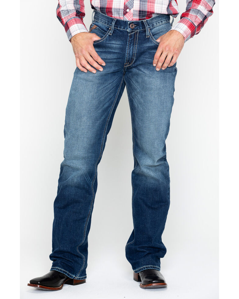 Ariat Men's Blue M4 Relaxed Boot Jeans, Blue, hi-res