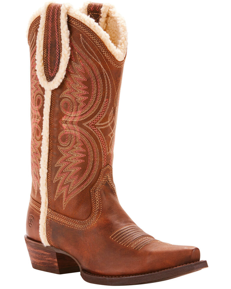 Ariat Women's Cognac Alabama Fleece Boots - Snip Toe , , hi-res