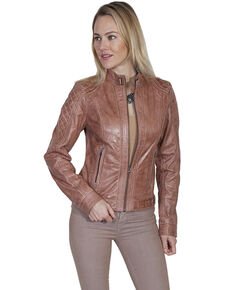 Leatherwear by Scully Women's Beige Leather Jacket, Beige/khaki, hi-res