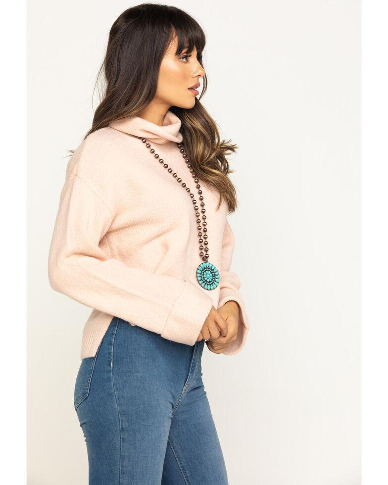 Eyeshadow Women's Pink Cropped Sweater, Pink, hi-res