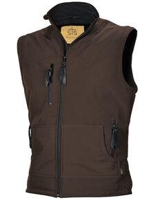 STS Ranchwear Men's Brown Barrier Vest - Big , Brown, hi-res
