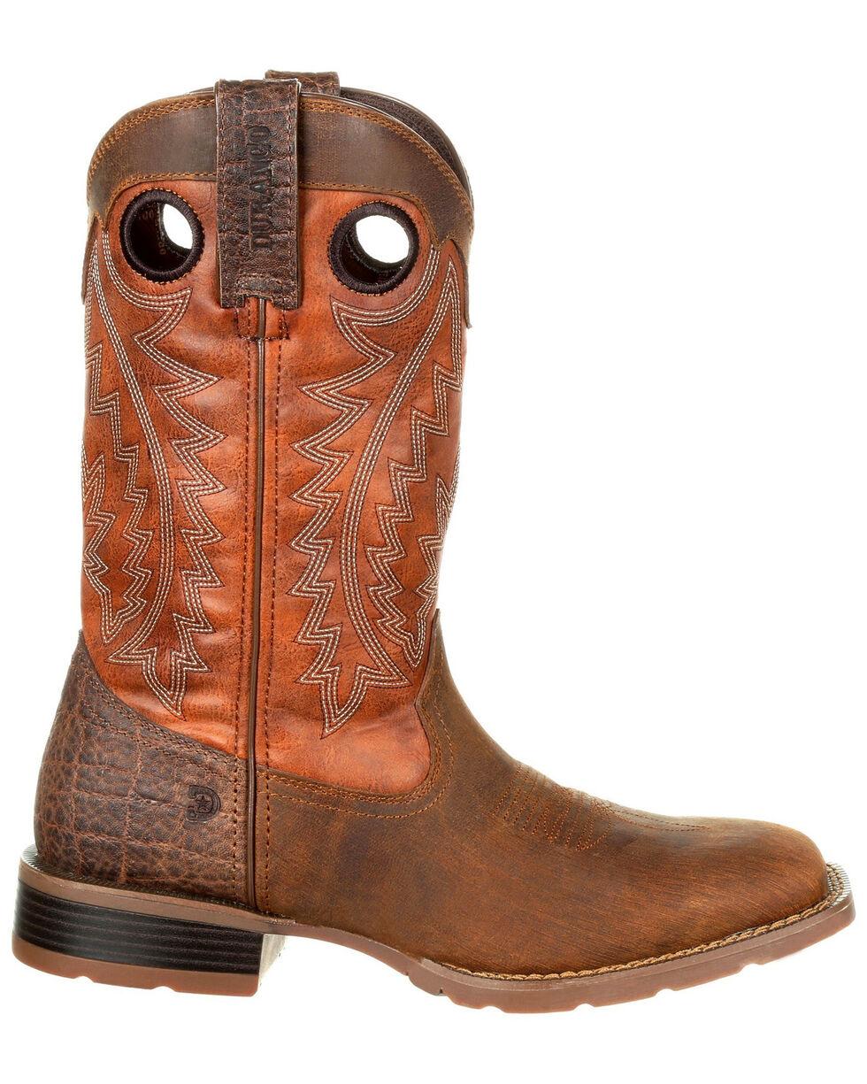 Durango Men's Mustang Faux Elephant Western Boots - Square Toe, Tan, hi-res