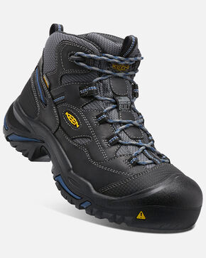 Keen Men's Braddock Waterproof Work Boots - Round Toe, Black, hi-res