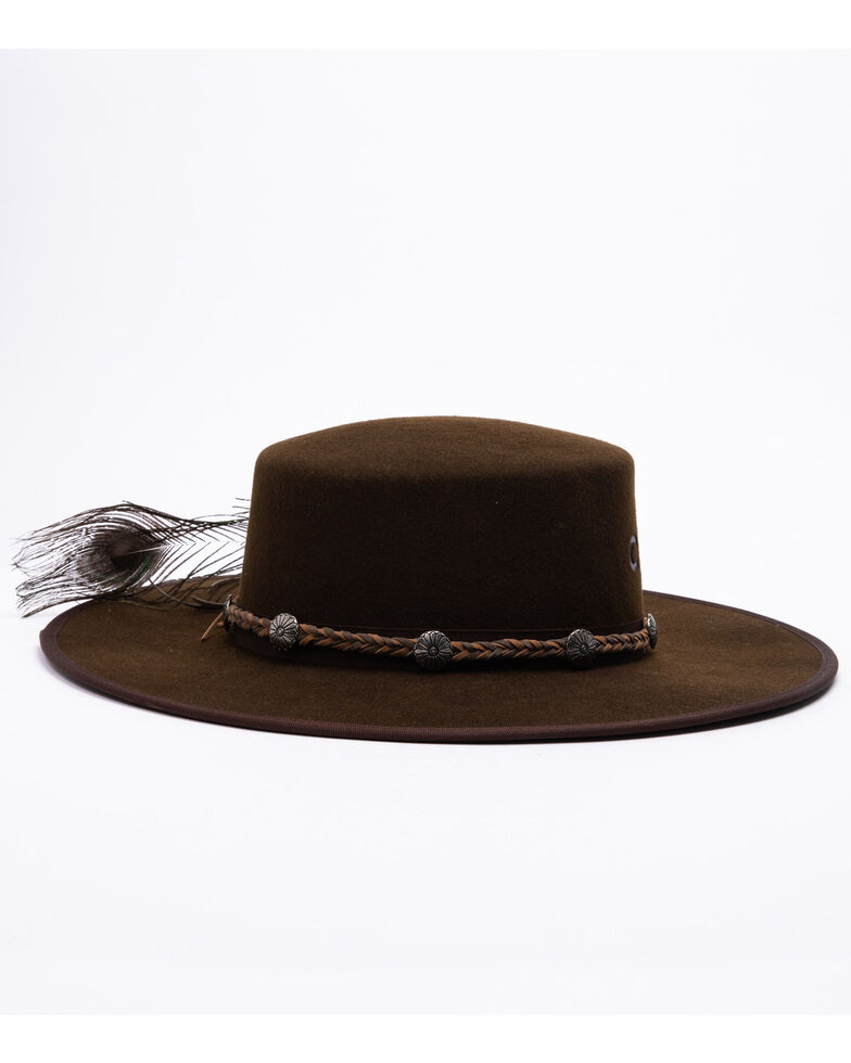 Charlie 1 Horse Women's Country Thunder Wool Felt Hat , Chocolate, hi-res