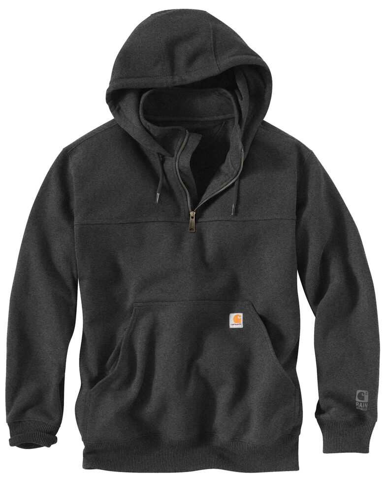 Carhartt Rain Defender Paxton Hooded Zip Mock Sweatshirt - Big & Tall, Charcoal, hi-res