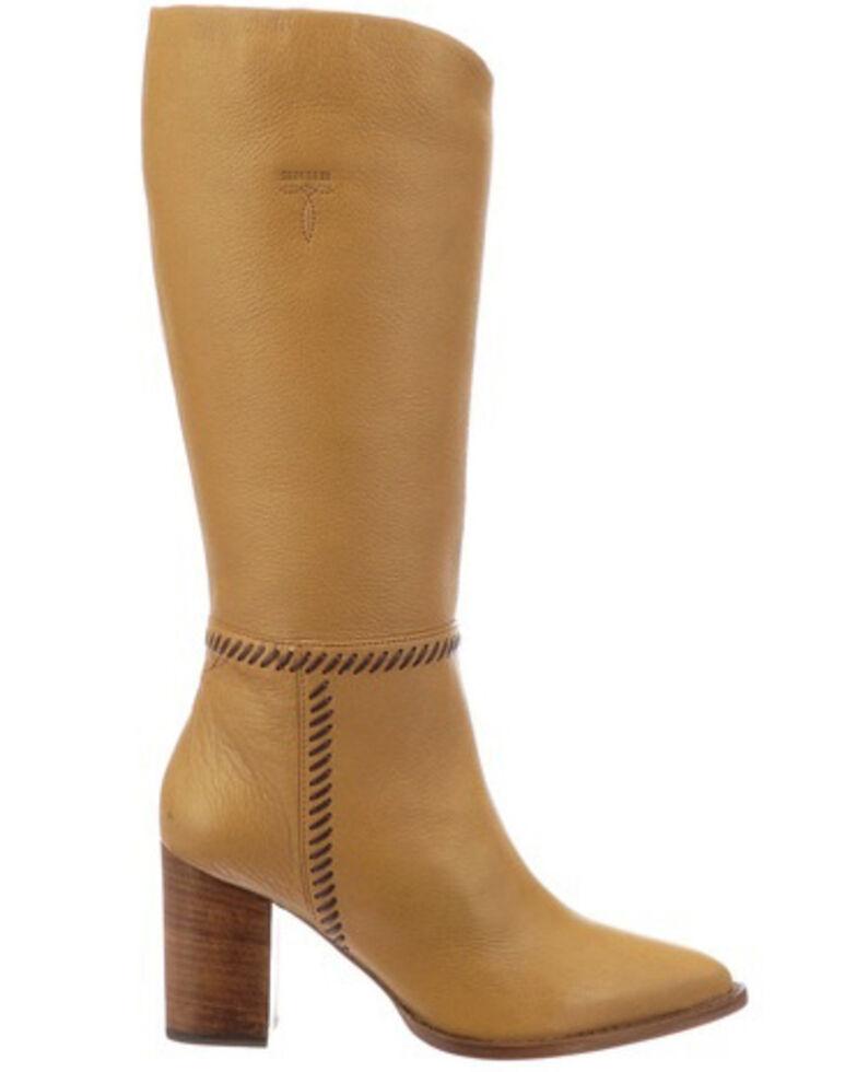 Lucchese Women's Caramel Tall Whipstitch Contemporary Boot - Pointed Toe, Camel, hi-res