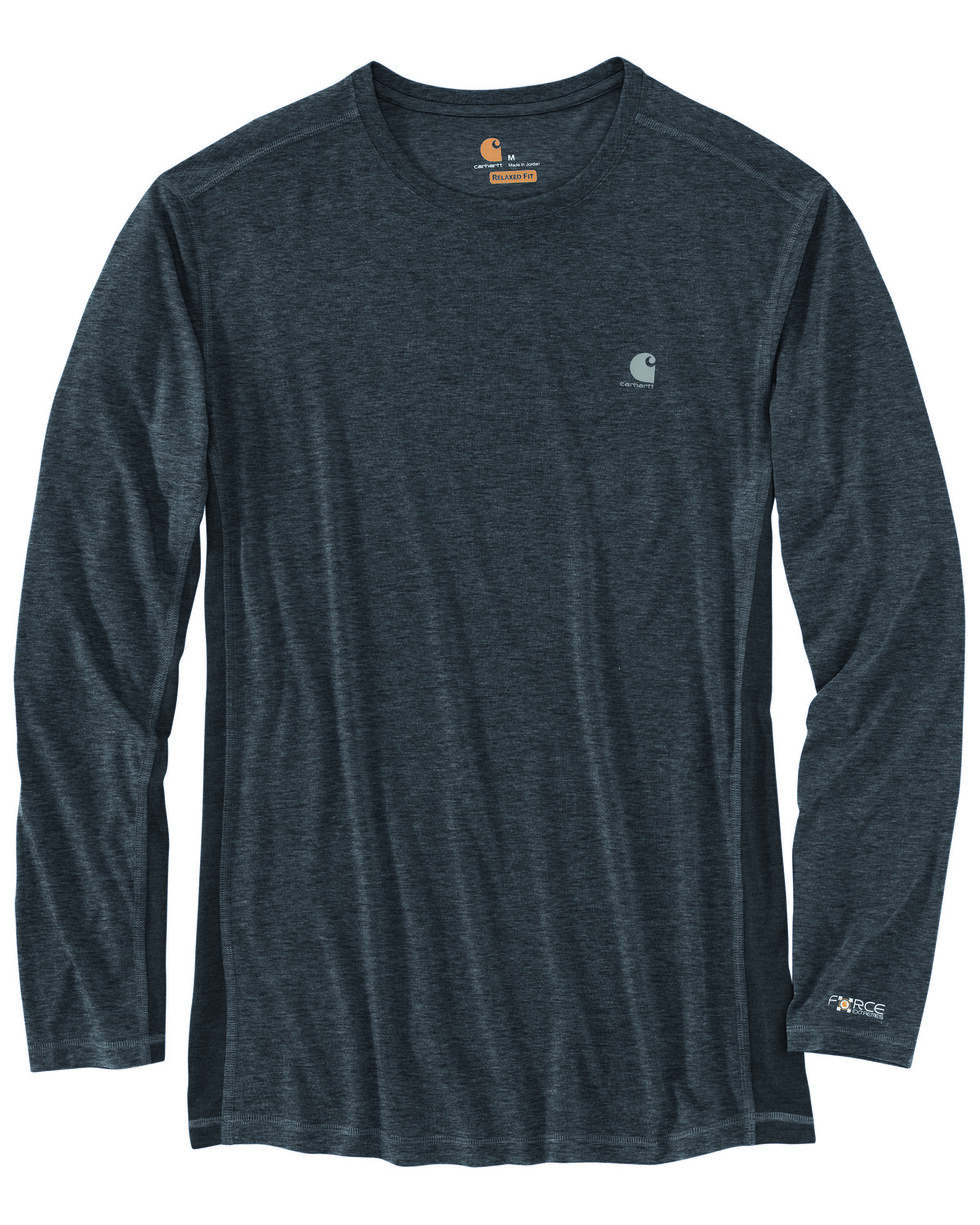 Carhartt Men's Force Extremes Long Sleeve Work T-Shirt - Big , Grey, hi-res