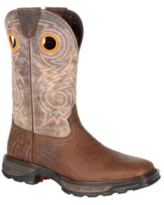 Durango Men's Maverick XP Western Work Boots - Soft Toe, Brown, hi-res