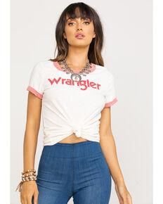 Wrangler Women's Ringer Tee, White, hi-res