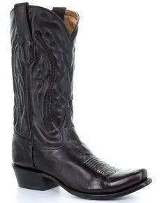 Corral Men's Will Western Boots - Narrow Square Toe, Black Cherry, hi-res