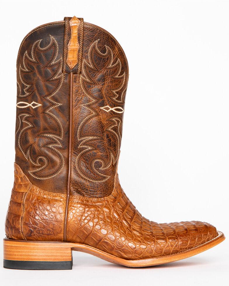 Cody James® Men's Burnished Caiman Exotic Boots, Brown, hi-res