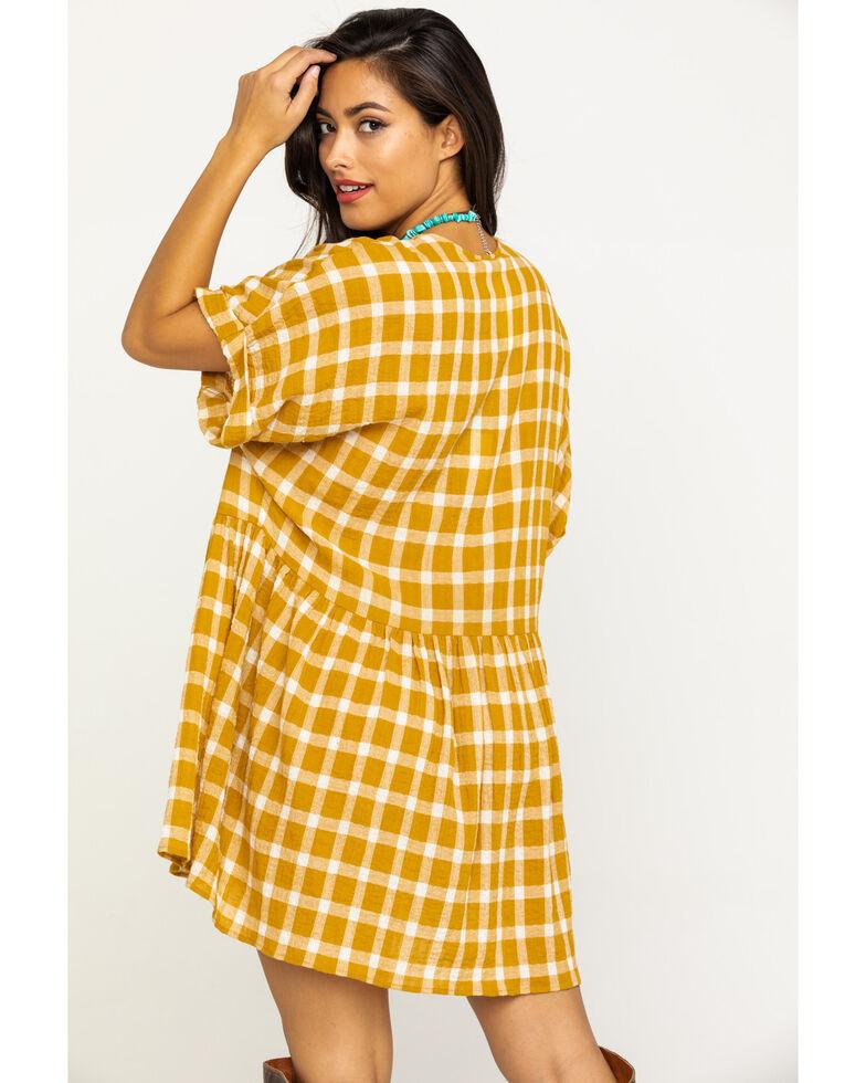 Show Me Your Mumu Women's Check Me Gold Odessa Dress, Dark Yellow, hi-res