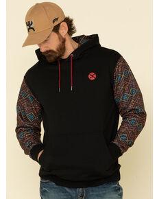 HOOey Men's Black Aztec Rumba Hooded Sweatshirt , Black, hi-res