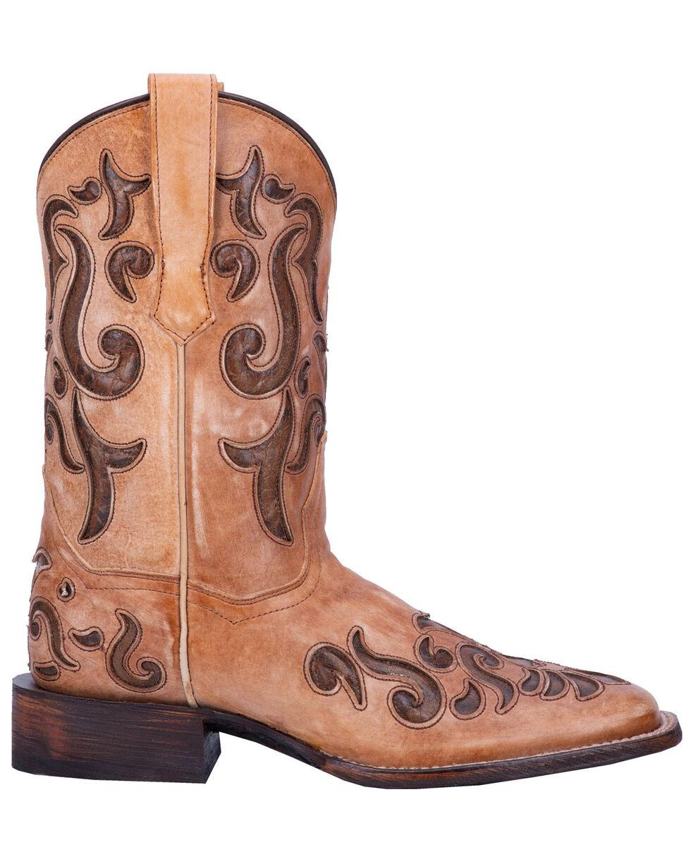 Dan Post Women's Vanna Western Boots - Wide Square Toe, Cream, hi-res