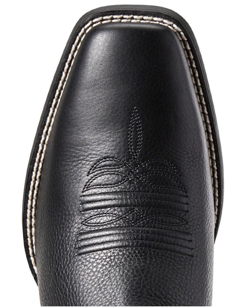 Ariat Men's Sport Herdsman Western Boots - Square Toe, Black, hi-res