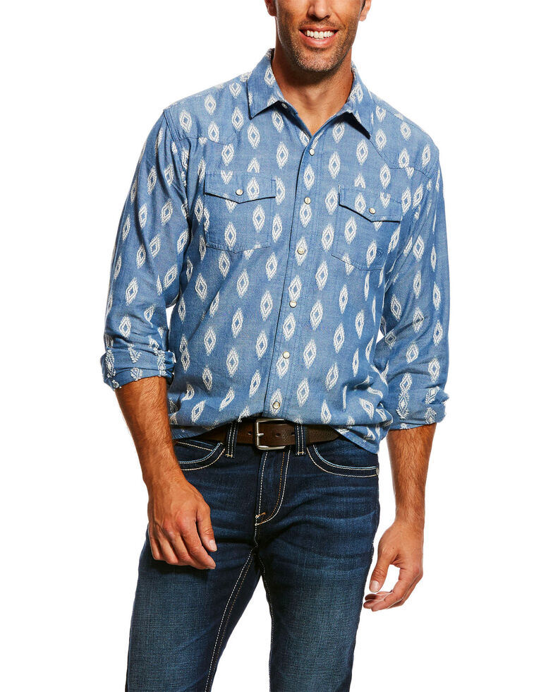 Ariat Men''s Jared Retro Geo Print Long Sleeve Western Shirt , Multi, hi-res