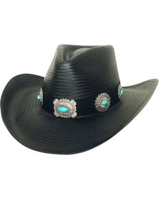 c274c25ec9be52 Bullhide Women's A Night To Shine Straw Cowgirl Hat