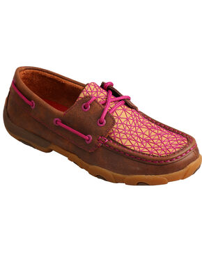 Twisted X Women's Geometric Driving Moc Shoes, Multi, hi-res