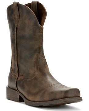 Ariat Men's Rambler Antiqued Cowboy Boots - Square Toe, Grey, hi-res