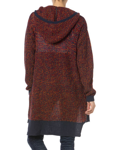 Miss Me Women's Burgundy Hooded Cardigan | Boot Barn