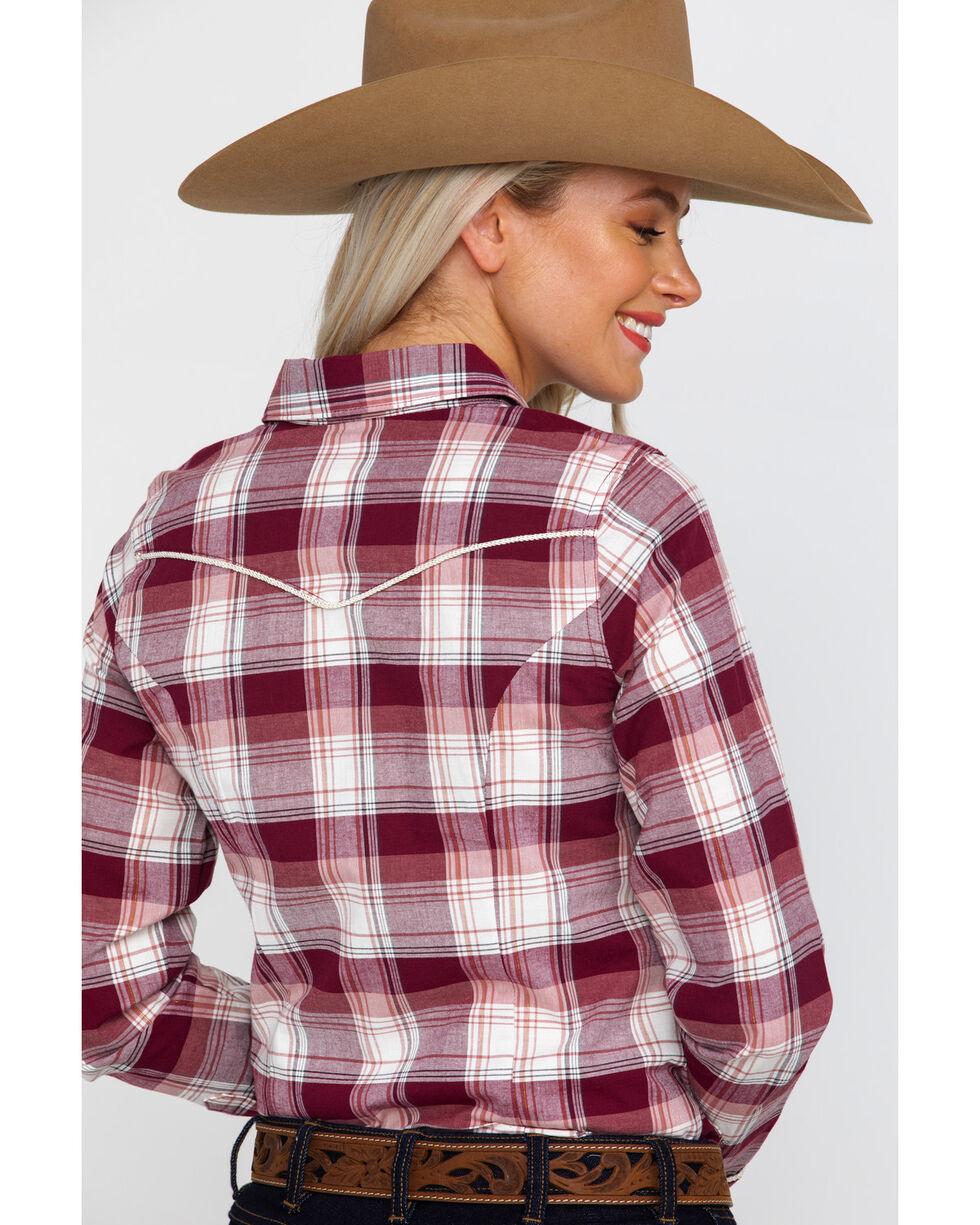 Shyanne Life Women's Plaid Riding Shirt , Burgundy, hi-res
