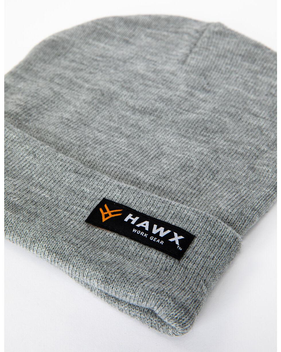 Hawx® Men's Heather Grey Logo Bar Beanie, Heather Grey, hi-res