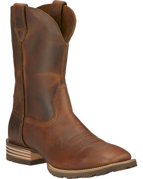 Ariat Men's Hybrid Street Side Western Boots, Brown, hi-res