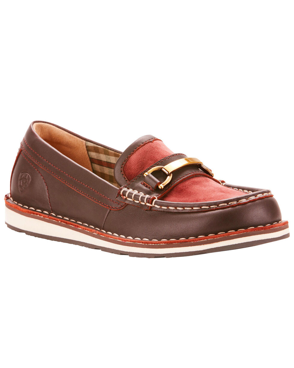 Ariat Women's Ivy Cruiser Loafers , Burgundy, hi-res