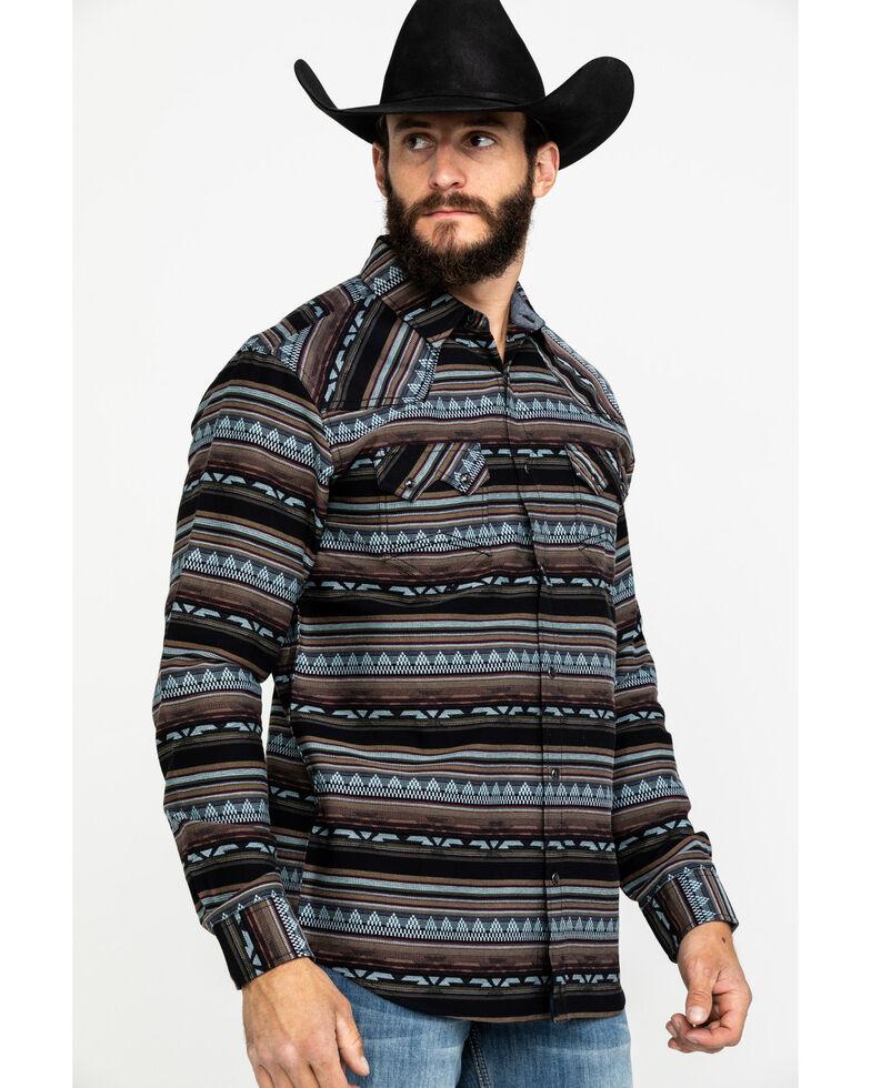 Cody James Men's Valley Grande Aztec Print Long Sleeve Western Shirt , Blue, hi-res
