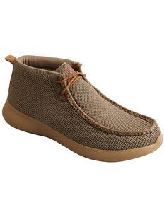 Twisted X Men's EVA12R Chukka Shoes - Moc Toe, Olive, hi-res