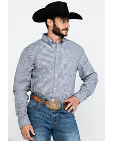 Cody James Core Men's Stonewall Small Plaid Long Sleeve Western Shirt - Tall , Grey, hi-res