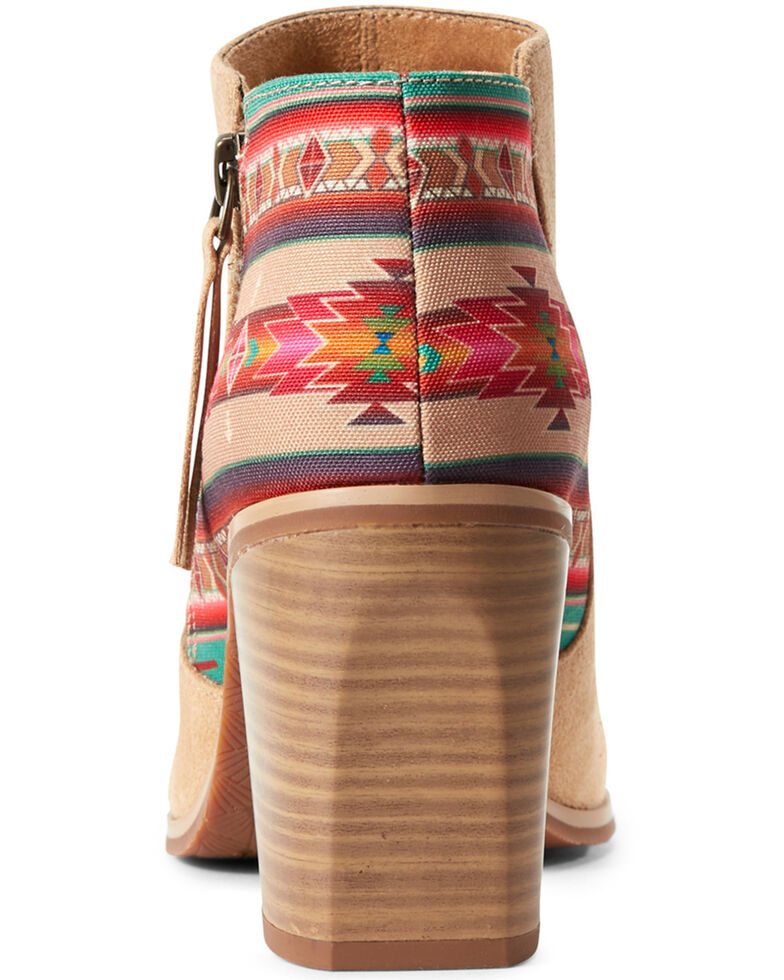 Ariat Women's Aztec Unbridled Kaylee Fashion Booties - Round Toe, Brown, hi-res