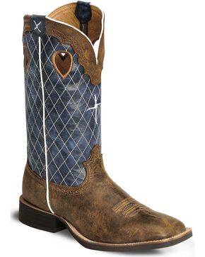 "Twisted X Men's Ruff Stock 12"" Western Boots, Distressed, hi-res"