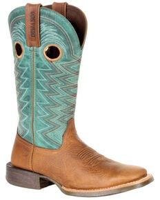 Durango Women's Lady Rebel Pro Teal Western Boots - Square Toe, Brown, hi-res