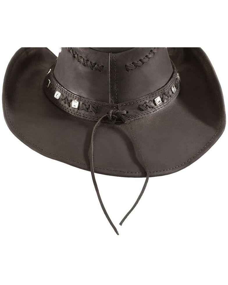 Bullhide Men's Thunder Struck Leather Hat, Black, hi-res