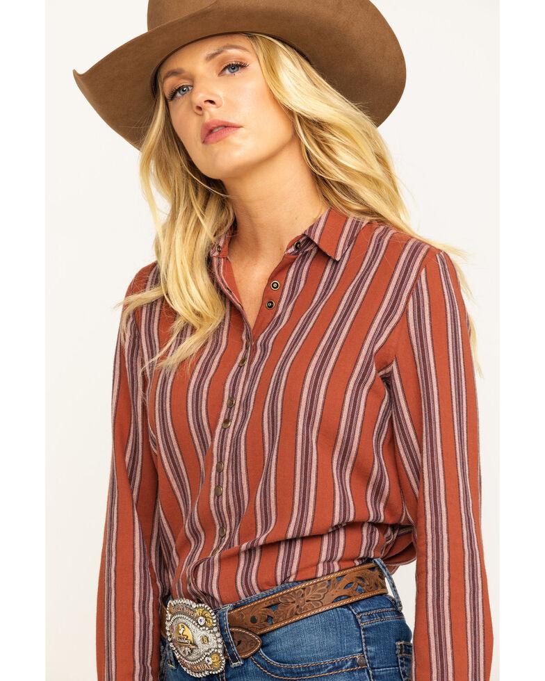 Shyanne Life Women's Rust Flannel Shirt, Rust Copper, hi-res